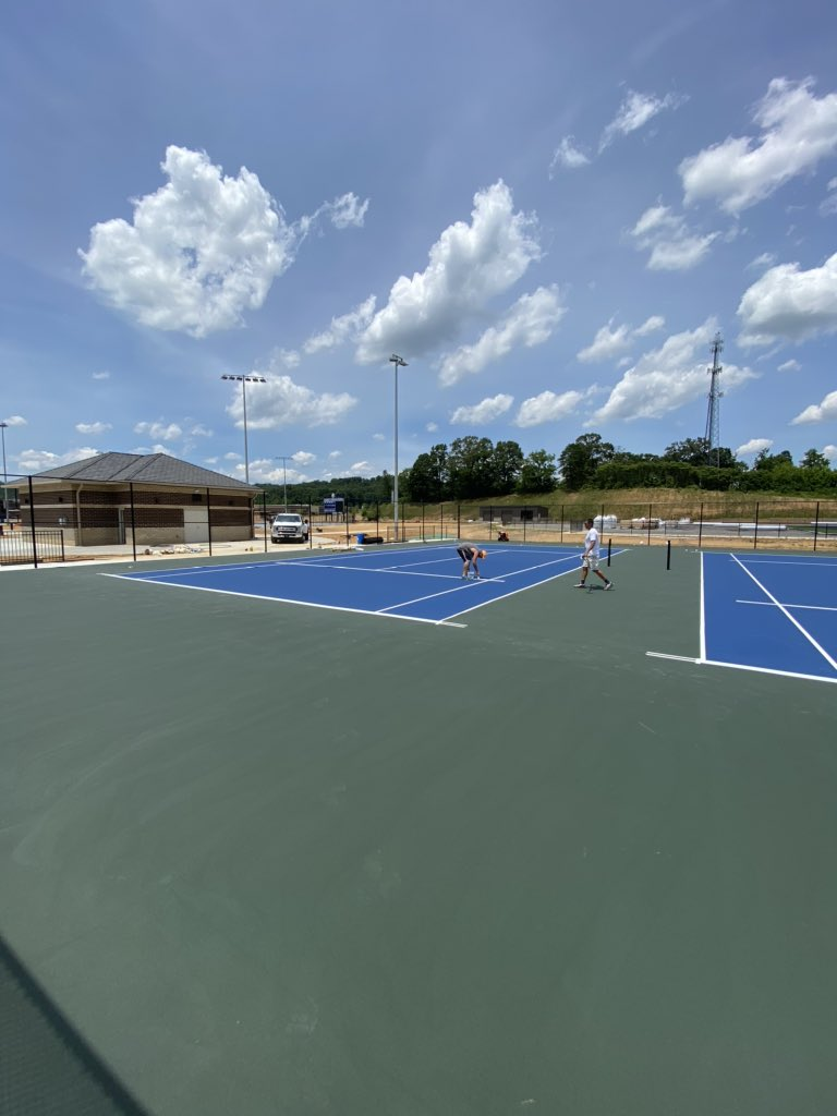 LCA Tennis Courts starting to take shape...   <br>http://pic.twitter.com/hZnJMPfPSr