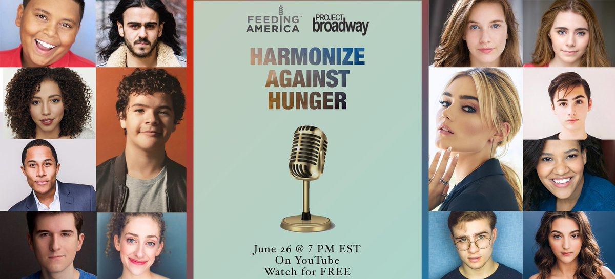 tonight!!! 7Pm ET on YouTube #HarmonizeAgainstHunger