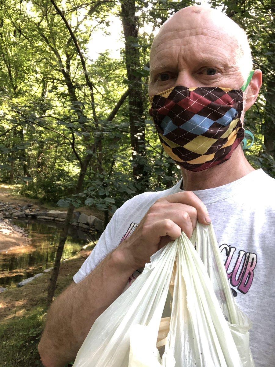 June 26 trash pickup in the park. Can you tell I'm smiling? @edgarrmcgregor