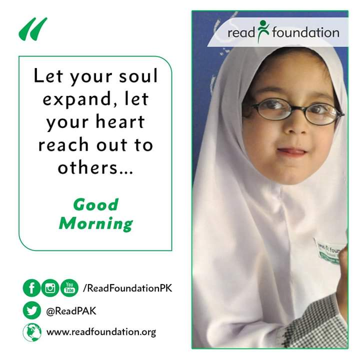 Let your soul expand, let your heart reach out to others  #READFoundation https://t.co/HQmRduToVl