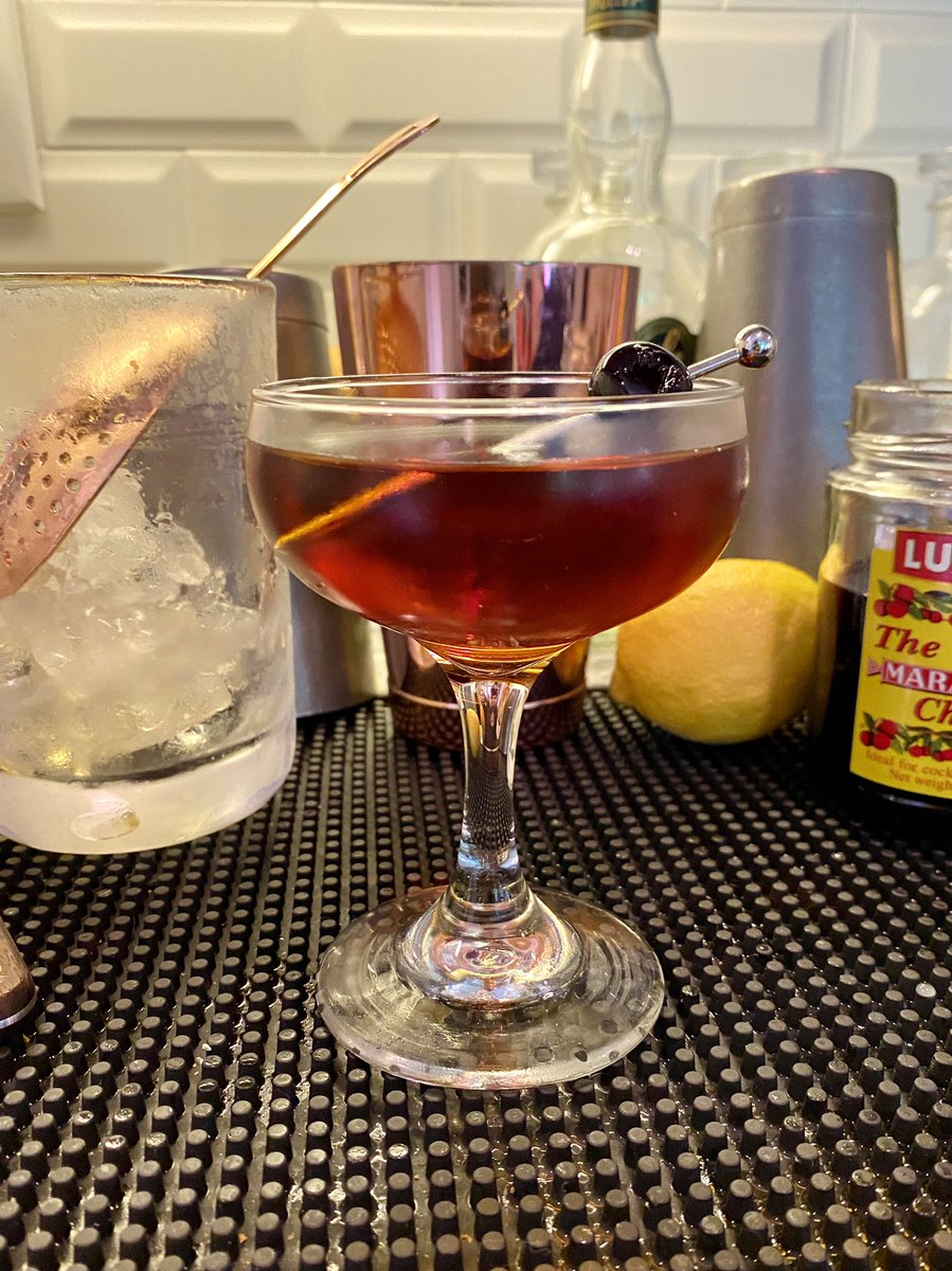 lockdown special RT @OttoIngalls: Augie March  2 oz Tequila Reposado  .75 oz Carpano Antica .5 oz Cynar  Stir with ice and strain into a chilled coupe.   Garnish with a brandied cherry. https://t.co/yr8Al7W1Rj