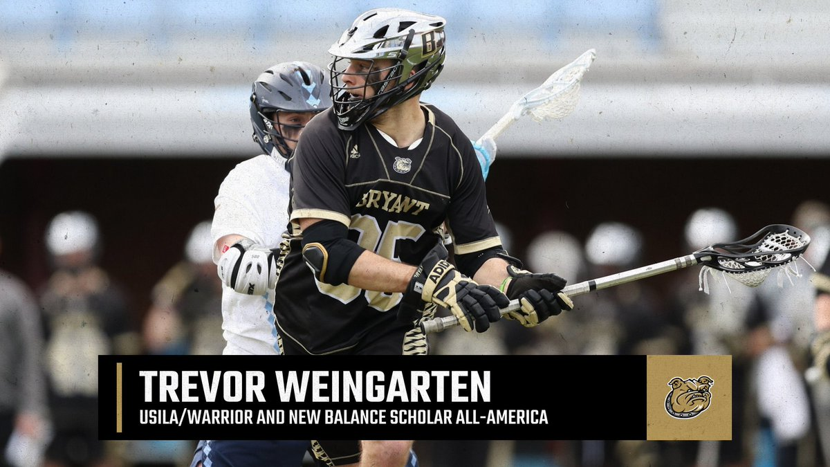 📚 Trevor Weingarten has been named a @USILA_Lax Scholar All-America honoree for his performance in the classroom and on the field.  ➡️ https://t.co/9MjrqqMkcb  #GoBryant | #NECMLax https://t.co/5xFSBDLbgZ