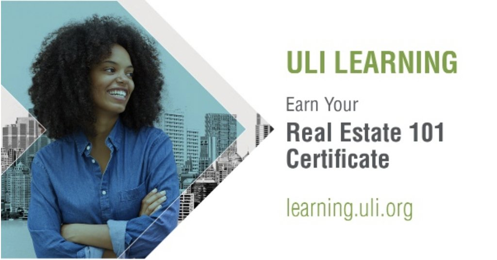 Focus on your real estate career this summer! Start your Real Estate 101 Certificate today with unparalleled online instruction from ULI Learning.  https://t.co/r9Ow8axsjN https://t.co/eALTqJSr8Q