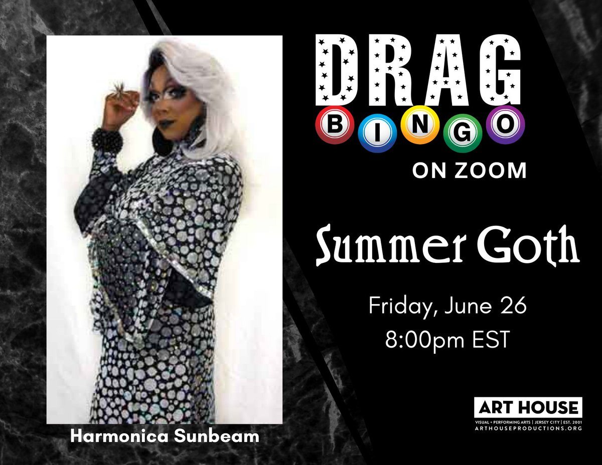 Still a few boards left for Virtual Drag Bingo with Harmonica Sunbeam tonight at 8pm EST / 5pm PST! Whether your staying in, or venturing out to a local bar patio, have fun night with Bingo! All you need is cell service or WiFi! Buy now: https://bit.ly/3aOpkSK   #TGIF #DragBingo pic.twitter.com/Ne9XzcYeDt