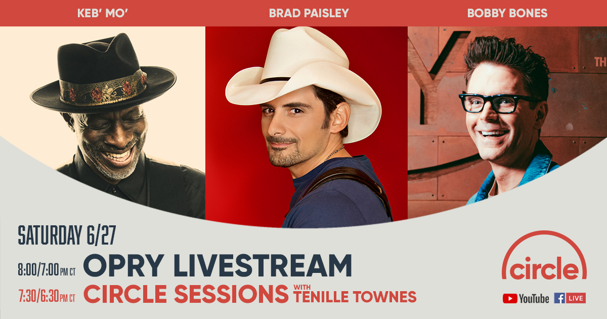 We've been looking forward to this all week! @kebmomusic and @BradPaisley will return to the @opry stage tonight at 7pm/c! Where will you be watching from?  Tune in on @CircleAllAccess here: https://t.co/h8tse8wqjw https://t.co/r9vx8AzZde