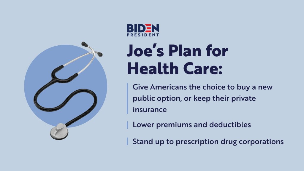 Health care is a right for all — not a privilege for the few. We have to ensure every single American has access to the care they need and deserve. Here's what I would do as president: JoeBiden.com/HealthCare