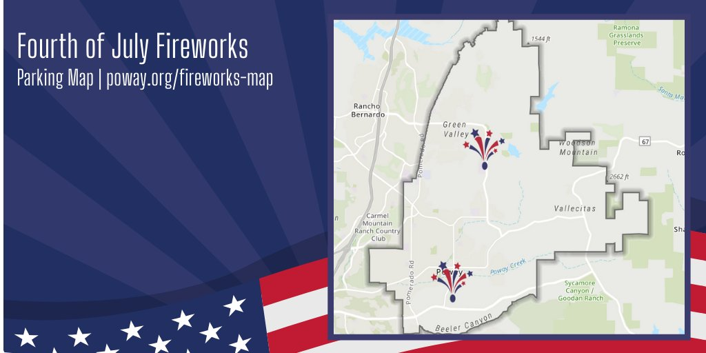 """With not 1, but 2 firework displays simultaneously lighting up the sky on the 4th of July, we've put together a map of parking lots open for public parking, as well as some """"no parking"""" streets available for parking to watch the fireworks. View the map: https://t.co/FxbkyPmT8Y. https://t.co/b4xZDZeNHS"""