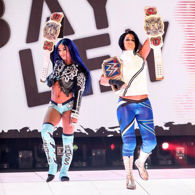 """""""Yikes, I play tag and you it for life."""" #SmackDown #2BeltzBanks #Sasha3Shows https://t.co/kuust7rYx"""