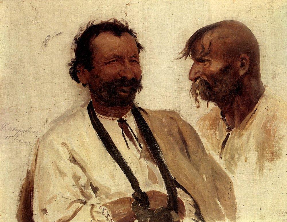 Two Ukrainian peasants, 1880 #repin #realism