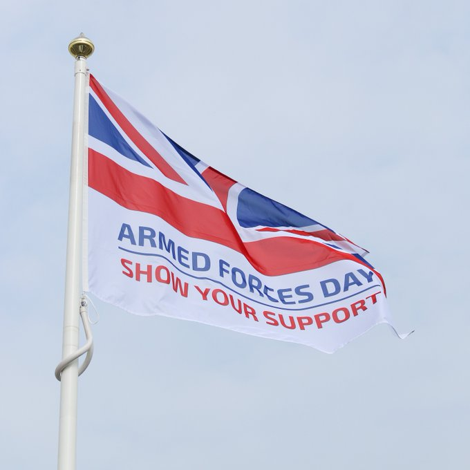 We're proudly flying our flag…
