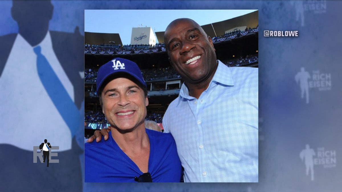 We thought we heard @RobLowe say that Pat Riley once kicked him off the @Lakers team flight back in the 80s: cc: @MagicJohnson