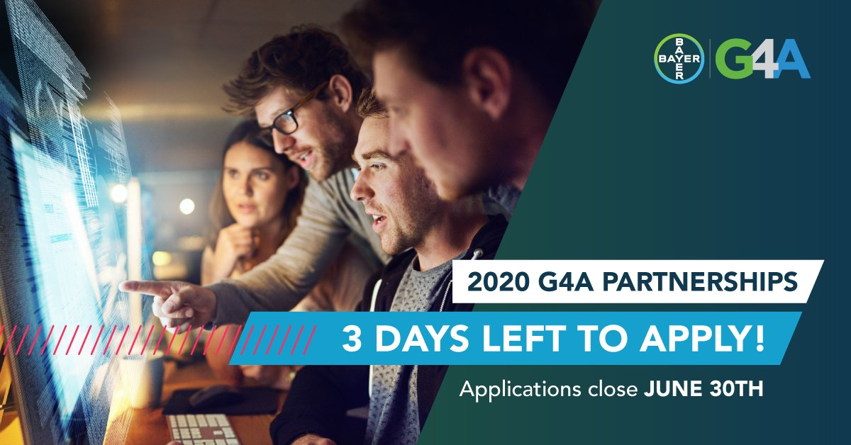 Time is running out! Only three more days to partner with us to create a more sustainable healthcare system. The G4A Partnership Application closes June 30th at 11:59PM CET. Apply now 👉🏼 https://t.co/NjdTjetRJ4 #DigitalHealth #G4AHealth https://t.co/VDyUFcsux2