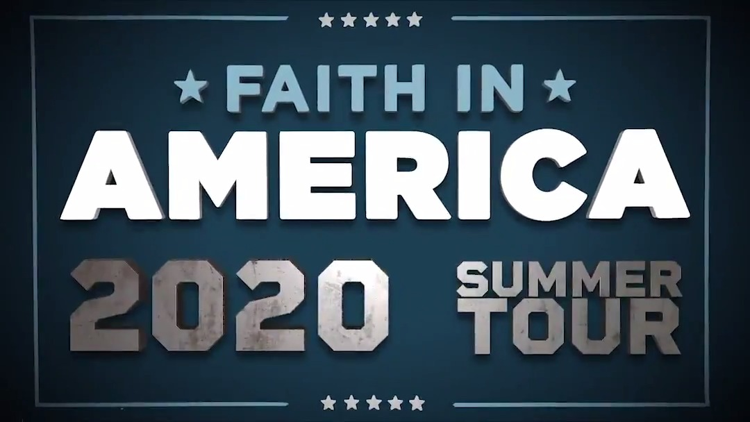 #FaithInAmerica Summer 2020 Tour. Get your tickets now!
