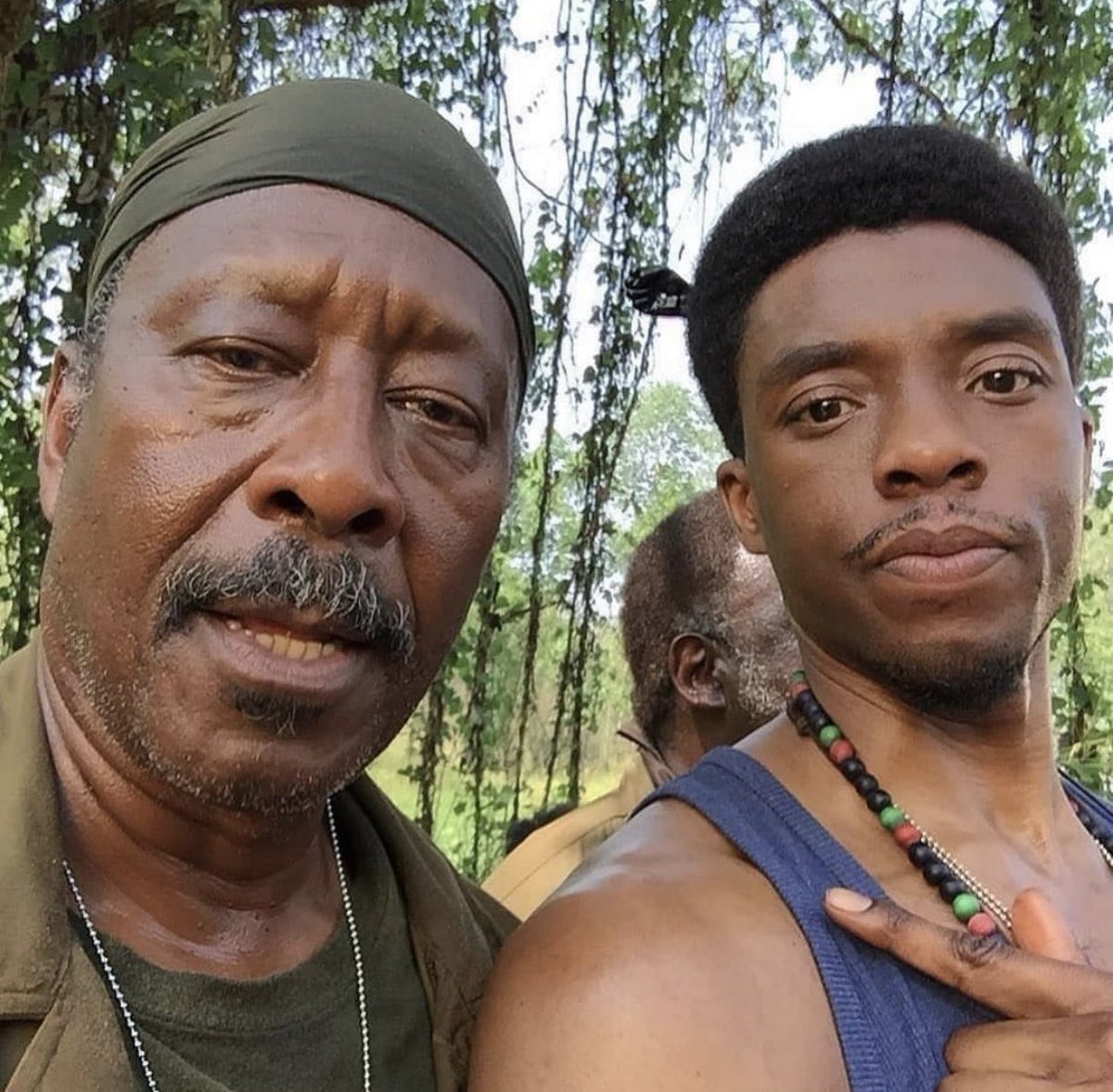 The beauties of filming.  Always wanted to be Wired with this guy. @clarkepeters  #da5bloods https://t.co/zc3a7KWBFI