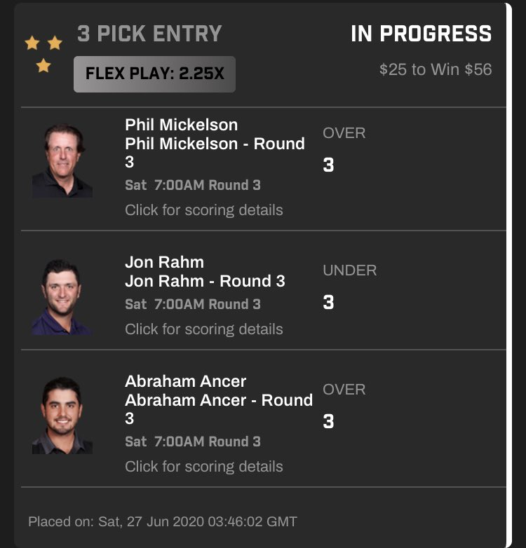 Who's ready to extend our #golf #prizepick streak to 4 overall and 3-0 at this weekends #TravelersChamp??  Not only are we 2-0 but we haven't missed a single pick with back to back hatricks!!  #golfbetting #freebets #sportsbetting #freelineups pic.twitter.com/ZefV3gDDPS