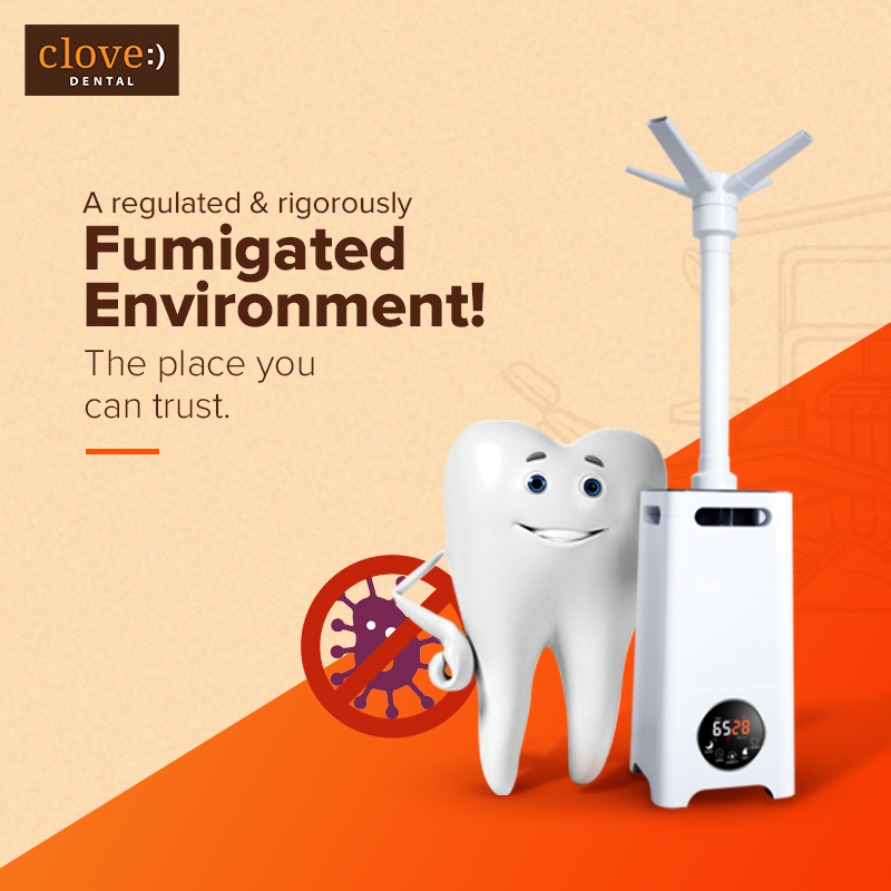 As an attempt to keep our clinic safer amid #COVID19, we now religiously follow a regular #Fumigation of our clinics to kill & eliminate all forms of microbial life. Under revised guidelines, we have significantly increased fumigation frequency to almost daily. #CloveDental