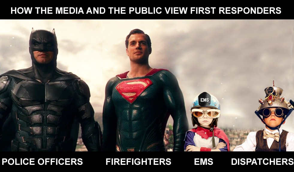 How first responders are viewed by the media and the public.