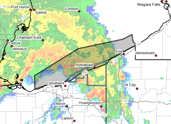 The National Weather Service in Cleveland has issued a  * Special Marine Warning for... Nearshore and Open waters from Vermilion OH to Ripley NY...  * Until 3:30 AM EDT. <br>http://pic.twitter.com/IXwMzRwndJ