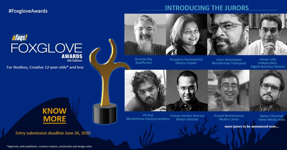 Happy to announce that our creative head @peekayanil is on the jury panel for the #FoxGlove #awards, one of the most respected awards of the industry. Do send in your entries if you haven't as yet @afaqs https://t.co/6rrzSxivNK