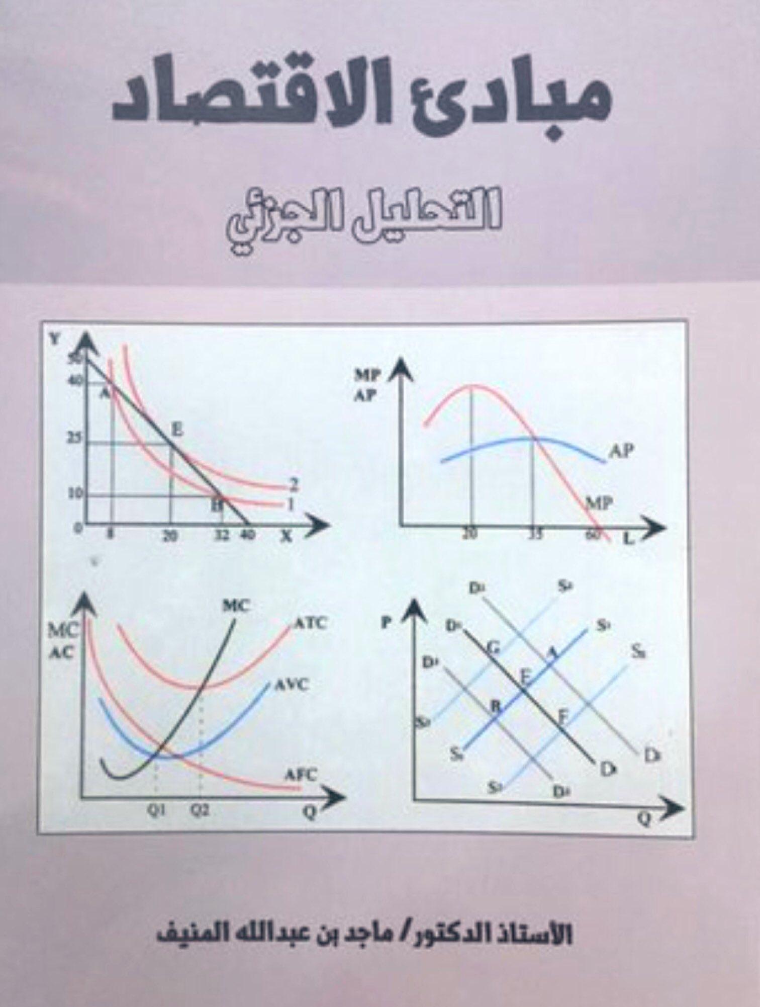 Dr Fahad Alsokhiry On Twitter المادة الحرة الوحيدة التي قمت بدراستها بمرحلة البكالوريوس من خارج كلية الهندسة كانت مادة عن الاقتصاد وكان الكتاب المقرر كتاب مبادئ الاقتصاد التحليل الجزئي للدكتور ماجد المنيف