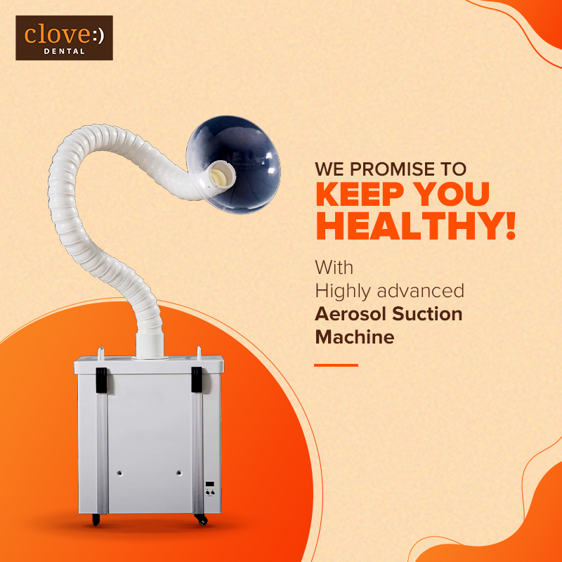 To ensure hygiene & provide the best care possible, our clinics have installed the most effective #Aerosol Removal & Air Purifying External High-Suction Machines with special filters & activated carbon filter to keep you healthy & safe. #CloveDental #SafetyFirst #CloveCares