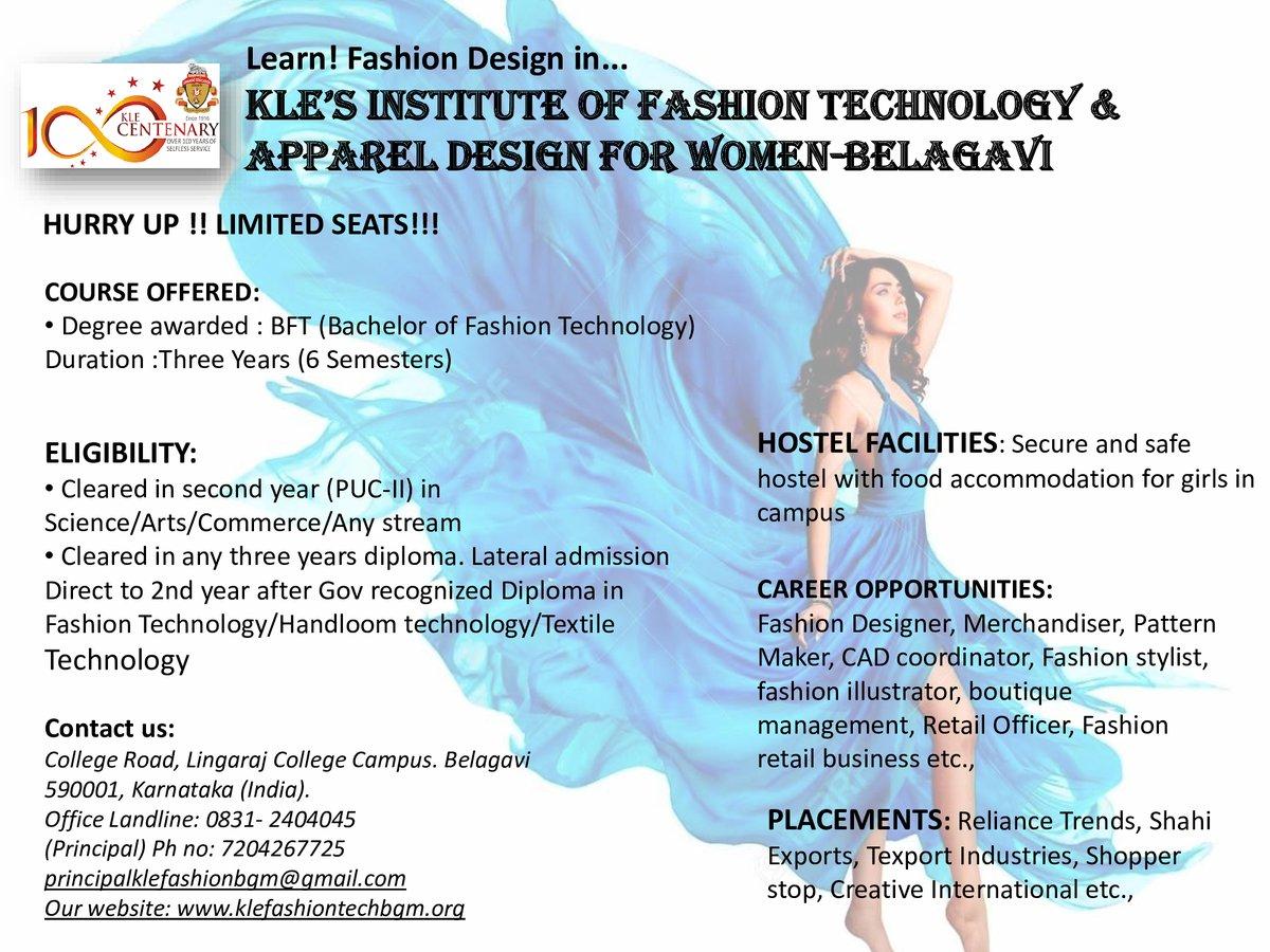 Kle Fashiontech Apparel Design Belagavi Belagavikles Twitter