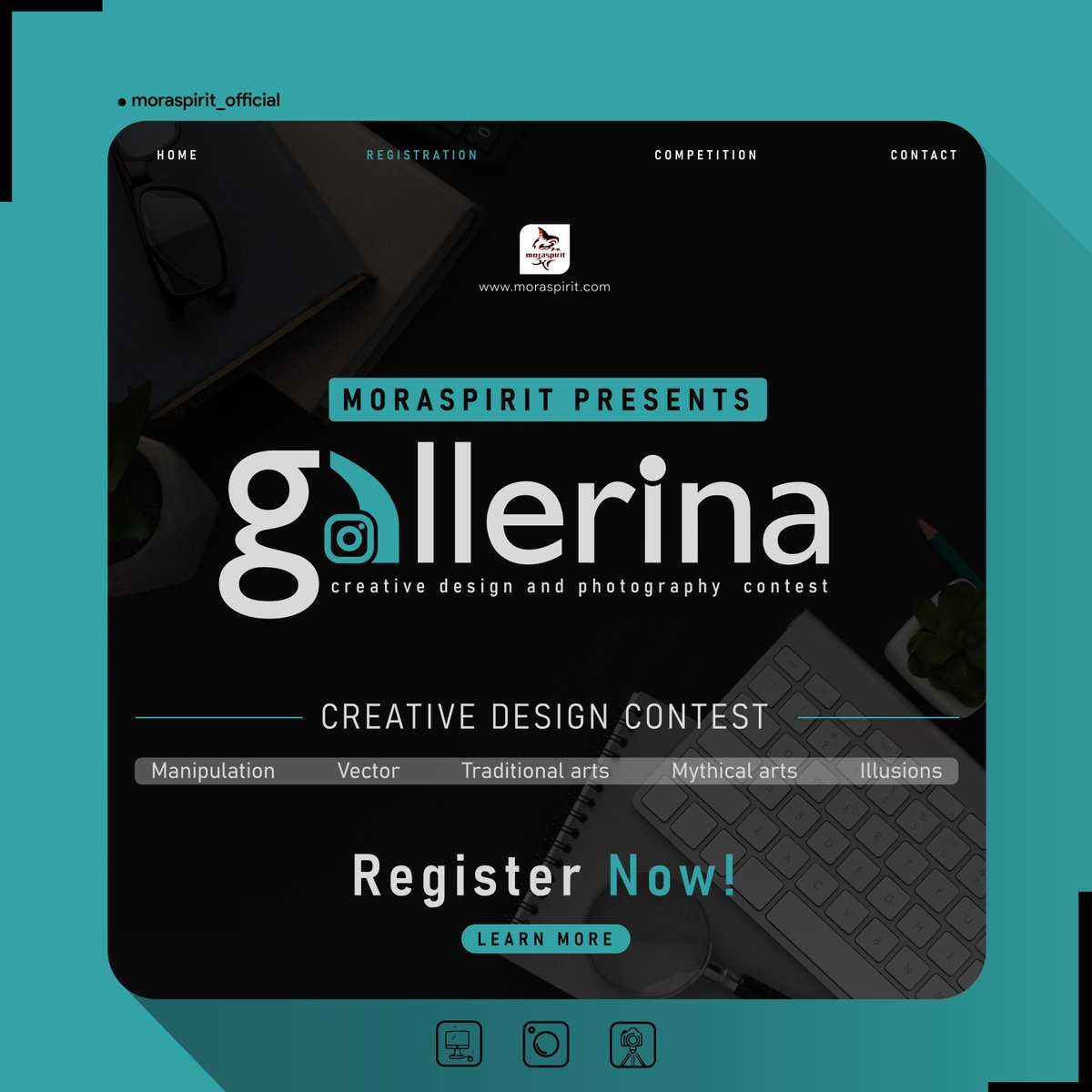 'Gallerina' is the ultimate creative design contest, proudly presented by MoraSpirit to bestow the limelight to avid innovative minds. Contest will be conducted via Instagram and will be open for anyone to take part. So, hurry up. Register before 7th july. https://t.co/XcoFnhgeIu https://t.co/5K7V8fM1qs