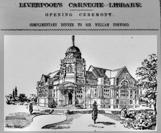 #Liverpool 27th June 1905 - Lister Drive Library, another funded by Andrew Carnegie, is opened by by Sir William B Forewood. Architect Thomas Shelmerdine. Closed in 2006, but now thanks to the amazing efforts of @ListerStepsHub soon to serve the needs of local residents again