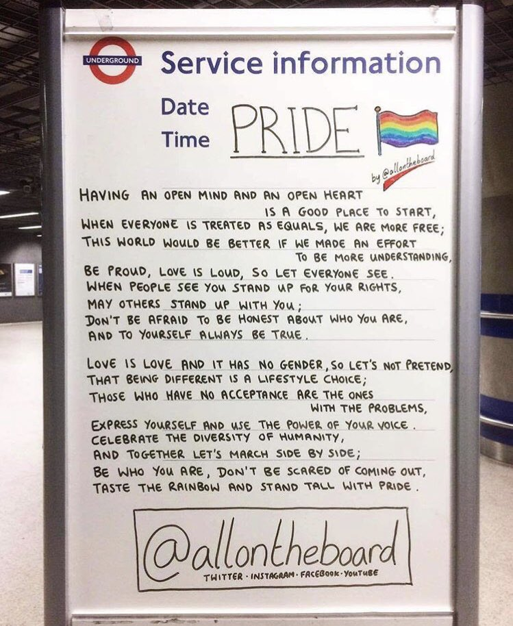 Even though this year we can't march together, we can all still stand together. @allontheboard #Pride #PrideInLondon #Pride2020 #HappyPride #YouMeUsWe #allontheboard