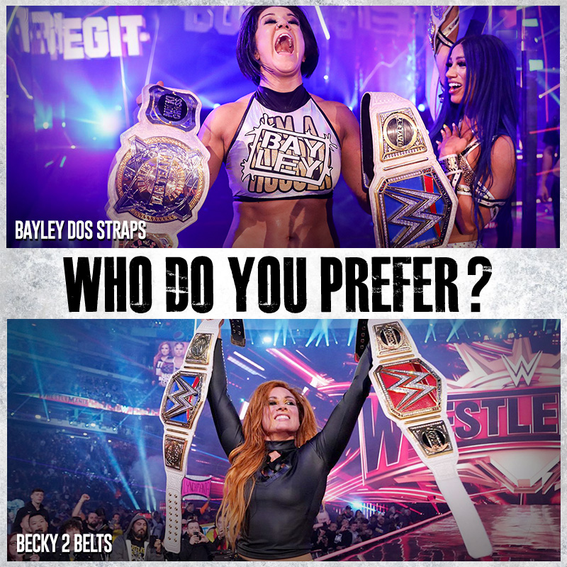 Who do you prefer?  RETWEET : Becky Lynch  LIKE : Bayley  #WWEpic.twitter.com/WHUaGUbiaV  by What should I put here lol