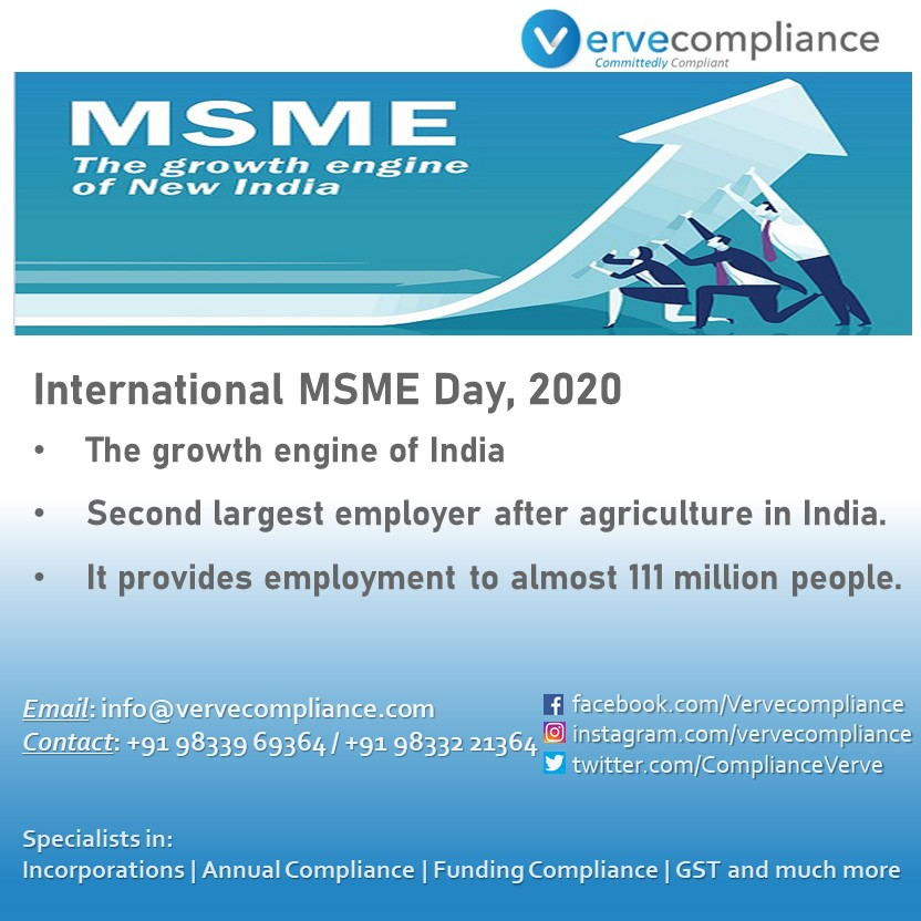 We at verve compliance support all MSMEs ensure they are compliant and help them to register and comply to all relevant laws. #internationalmsmeday #msmes #msmeday #committedlycompliant #employment #vervecompliance #law #atmanirbharbharat #finance #ourday #msmesector