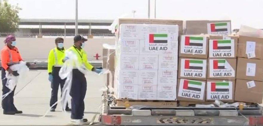 #BAE, #Irak_Kürdistan_bölgesine 6 #ton yardım ve tıbbi malzeme içeren bir uçak gönderdi, bu da #AbuDabi'nin Korona virüsü ile savaşmak için gönderdiği ikinci gönderi #Covid19 @emiratesrcpic.twitter.com/p5exZ0xJ5n