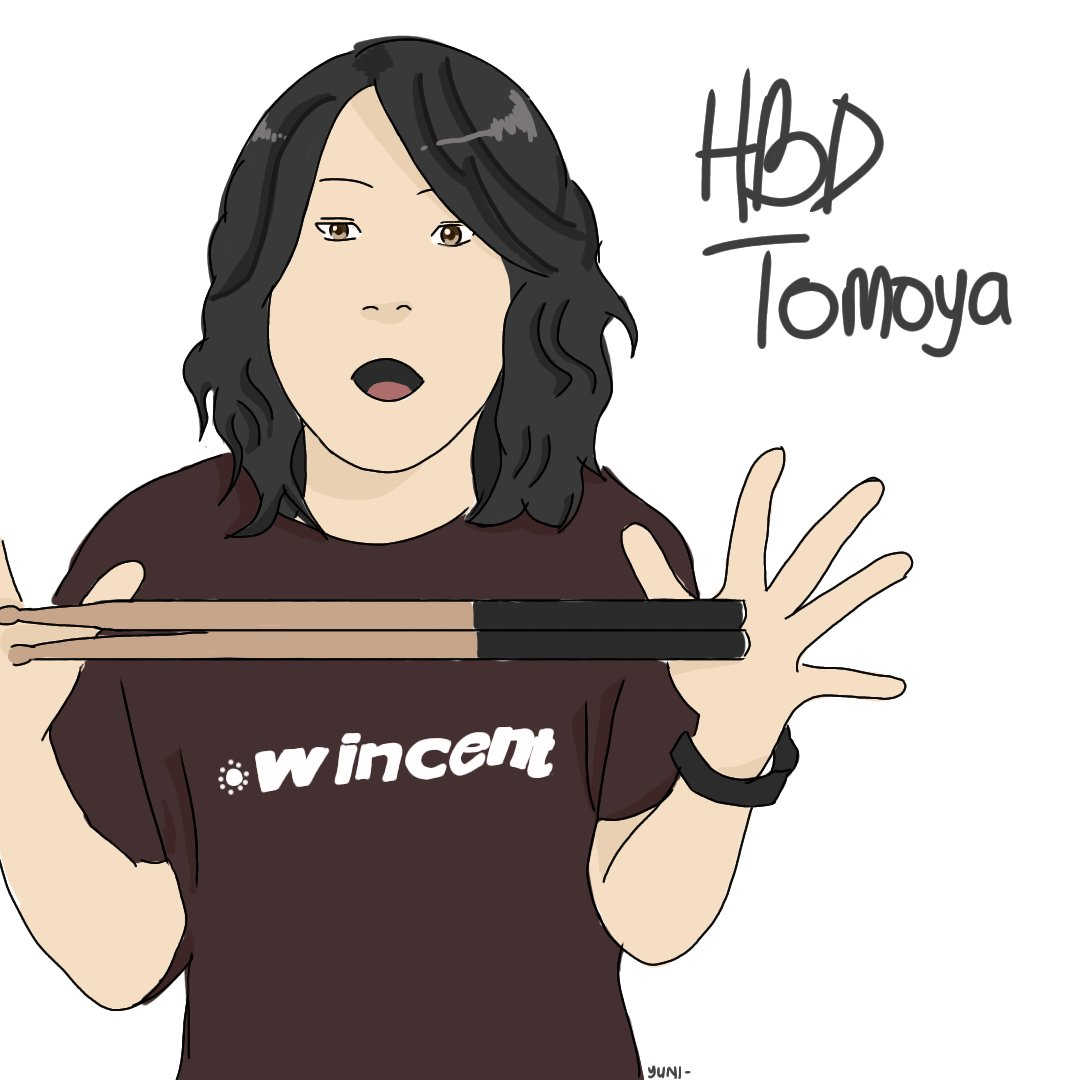 Happy birthday papa tomoya 🍎 Stay young and stay happy! #ONEOKROCK #TOMOYA #TomoyaKanki *Ive try so hard to draw tomoya and still cant draw well huhuhu :(