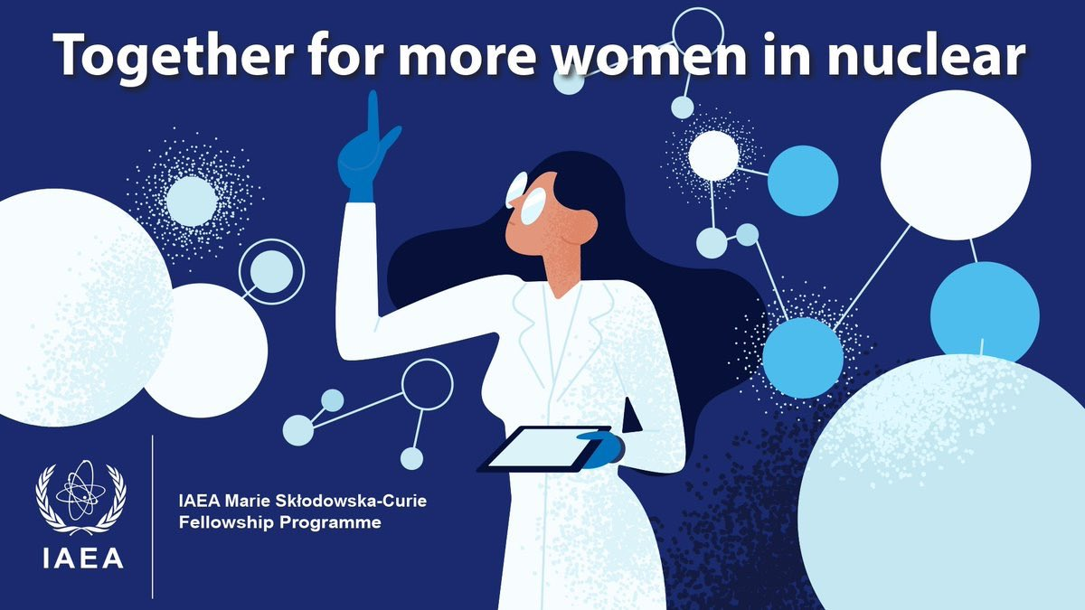 The ⁦@iaeaorg⁩ fellowships are a concrete way to open doors for  more women in nuclear. My aim is to award 100 this year. We need more support. Gender equality will be achieved by deeds, not words. Join us! ⁦@4womeninscience⁩ ⁦@WiNglobal⁩ https://t.co/3pInCY70JL