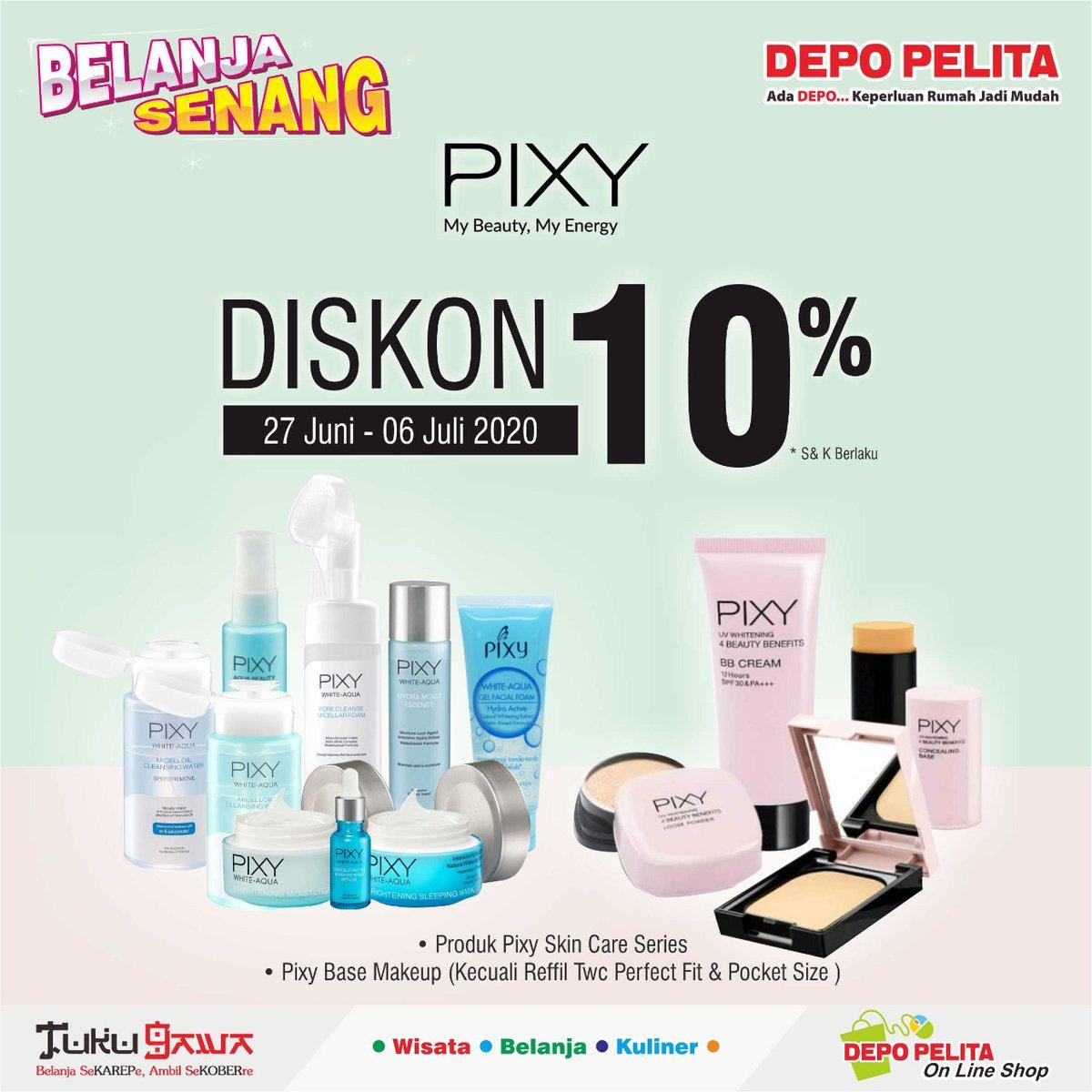 Discount PIXY 10% Hanya Di Depo Pelita Banjarnegara  #pixy #cosmetic #salonhijab #riaspengantin #cosmeticbanjarnegara #cosmeticwonosobo #COVID19 #depopelitabanjarnegara https://t.co/d9SVD34wmC