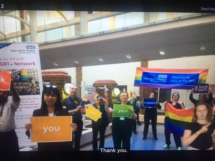 A fantastic #NHSvirtualpride last night. A beautiful mix of remembering the origins of #Pride as a protest, the talents of #LGBT+ colleagues & allies, and fun. Thank you @v1shk & amazing #LGBT+ staff network for giving #ournhspeople the spectacular night they deserved! #PRIDE2020