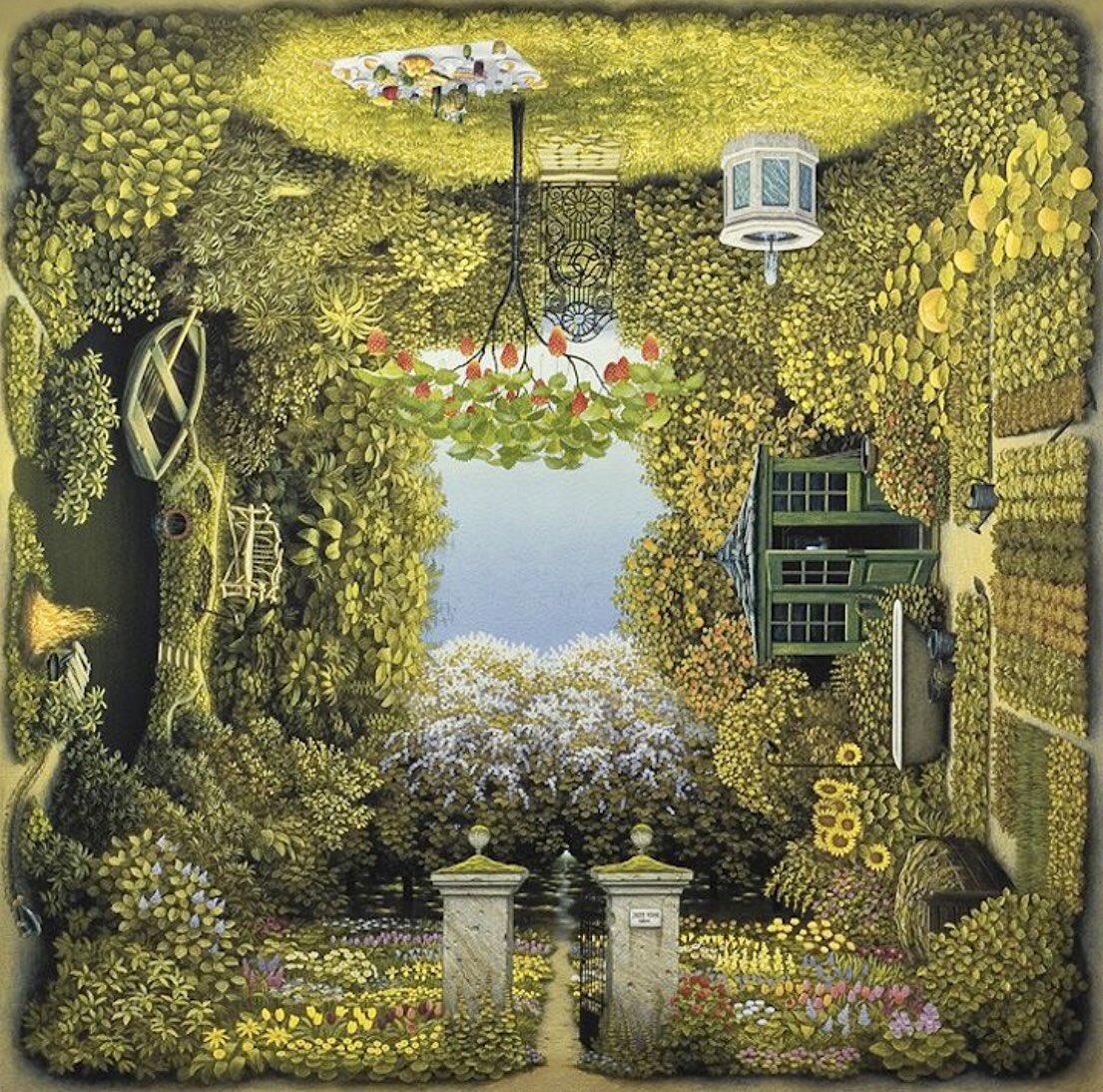 To plant a garden        is to believe in tomorrow.        ~Audrey Hepburn~  Gardener's Garden Jacek Yerka  #Art #surrealism #weekendvibes pic.twitter.com/whralpHBZm