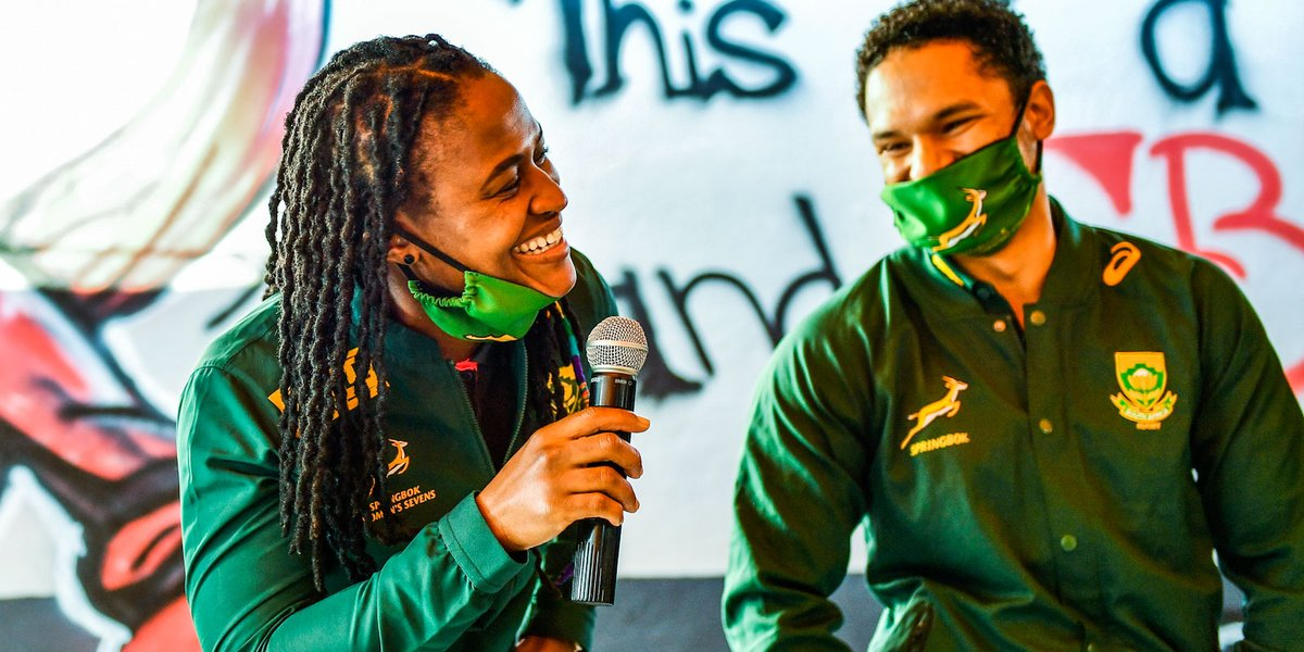⚡ Blitzboks and Imbokodo support their Bok brothers 🇿🇦 Its all for a good cause during a challenging time 🗣️ It lies at the core of what Siya told South Africans after the RWC ➡️ bit.ly/3eE0wyN #StrongerTogether for R32-12