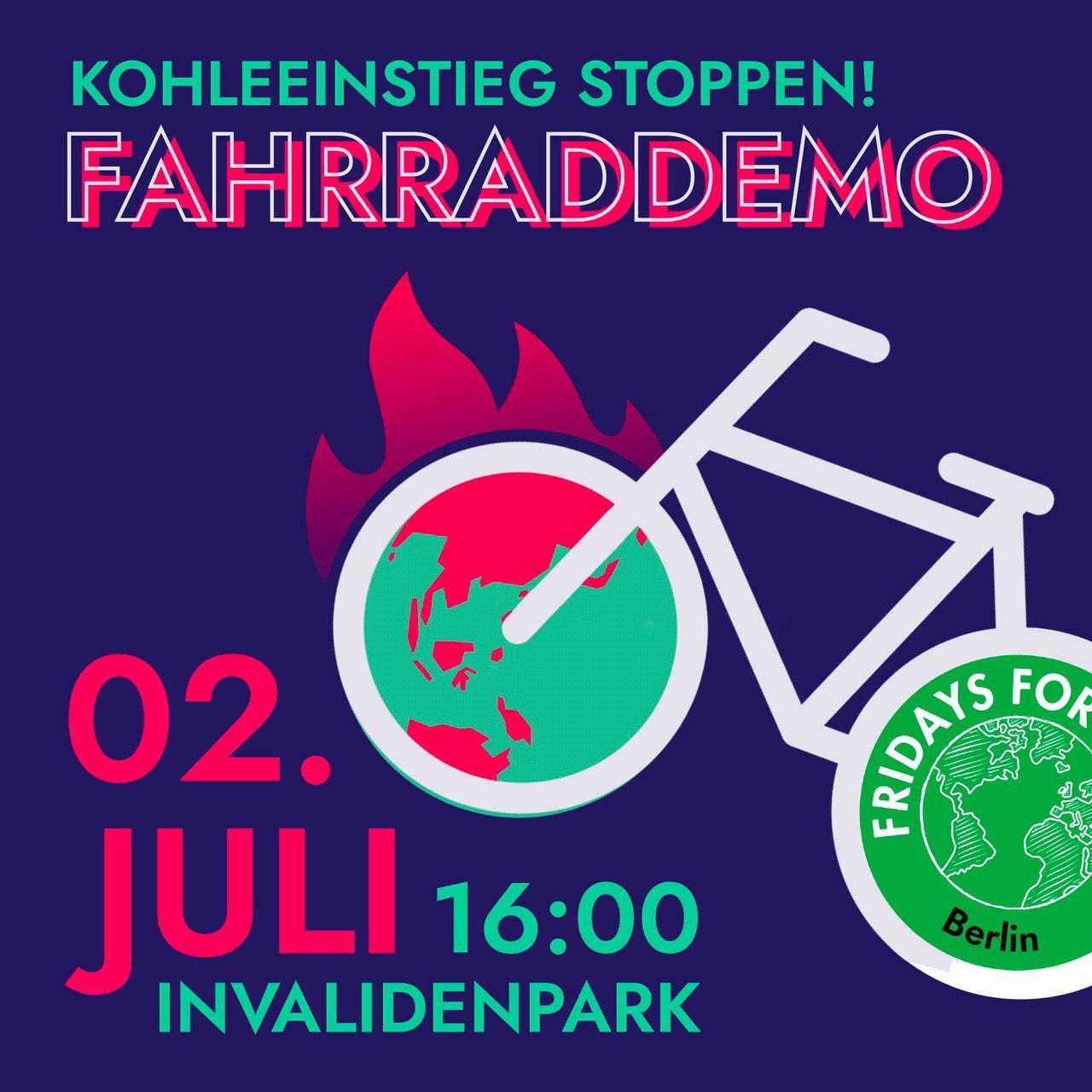 Kohleeinstieg stoppen! Fahrraddemo