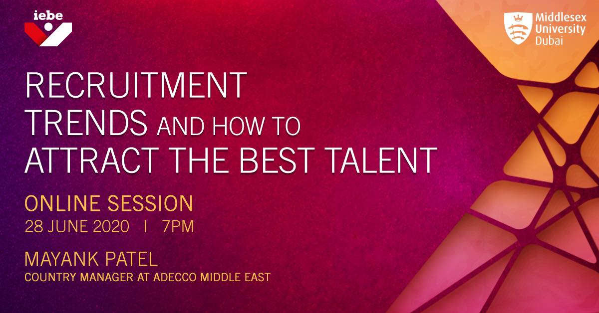 Join our Country Manager Mayank Patel on Sunday 28th June, 7pm (GST) as he address the students of Middlesex University on the topic 'Recruitment trends and how to Attract the best talent'. Follow the link on your smartphone, device or tablet: https://t.co/SK7wR2NrbA https://t.co/0luKO7Fsn6