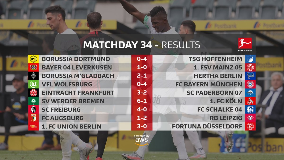 34e journée de Bundesliga