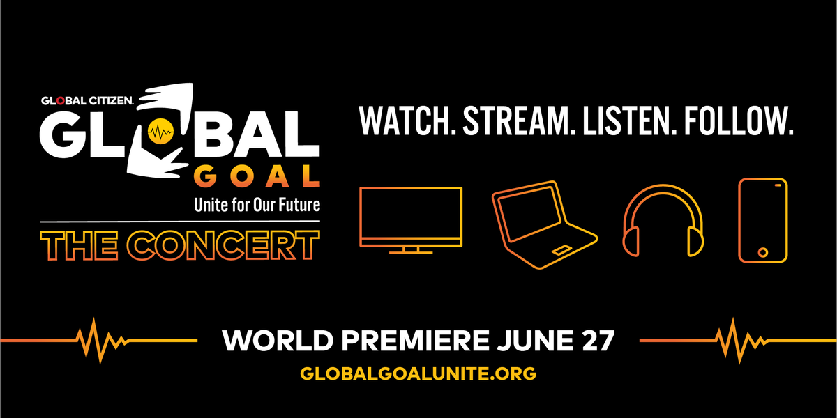 Today's the day for #GlobalGoalUnite Find out how to tune in to @GlblCtzn's worldwide event for COVID-19 relief ➡️ https://t.co/YqQTRtj0sK https://t.co/EEBi9m508T