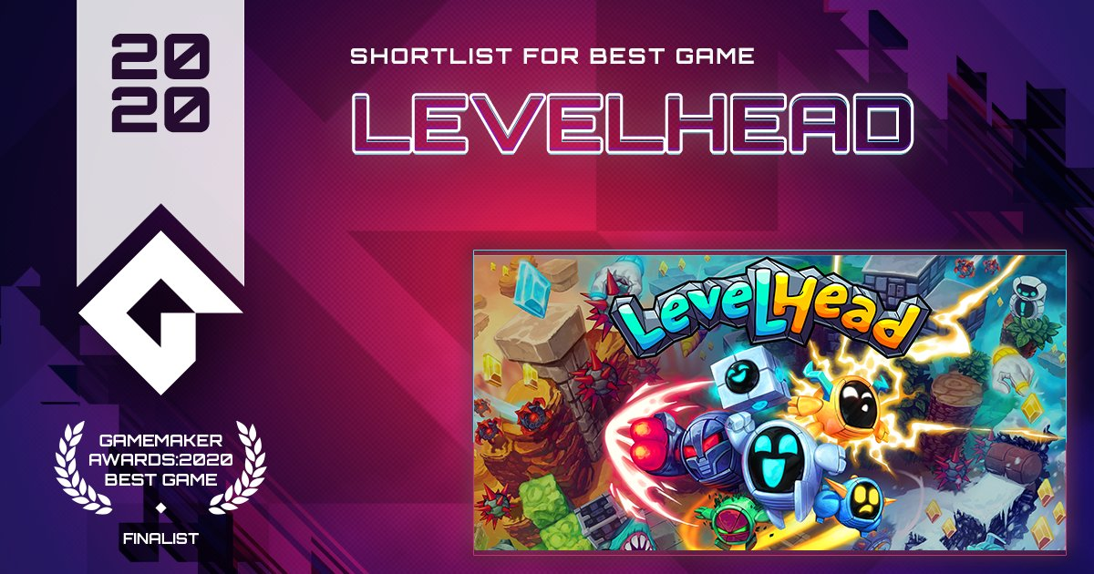 Build, play, share and compete in Levelhead, the platformer maker. From @BScotchShenani.  VOTE Levelhead for Best Game! https://t.co/sOoL4ZlEJ3 #GameMaker #GMBestGame https://t.co/gnLzL3JtjU