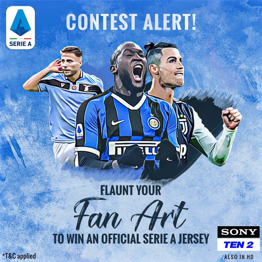 #ContestTime   Show your passion for   - Share with us an original #FanArt (painting/sketch/graphic) of your favourite @SerieA club or player in the comments  - Tag @SonySportsIndia and add #SerieAonSony - Nominate 1 friend.  #SonySports #Contest  #FootballContest #SerieA<br>http://pic.twitter.com/UpiCeTliB8