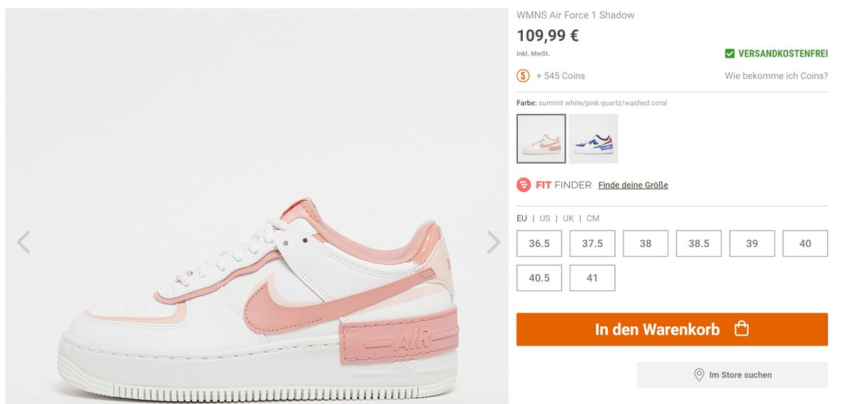 Moresneakers Com On Twitter Eu Only Wmns Nike Air Force 1 Shadow Summit White Pink Quartz Washed Coral Again On Snipes Eu Fr Https T Co Vxrnycmqqz De Https T Co Hqfcoerhob Nl Https T Co 4chnp4g3ve Https T Co T7fycqwcie Nike air force 1 'shadow' trainers. wmns nike air force 1 shadow summit