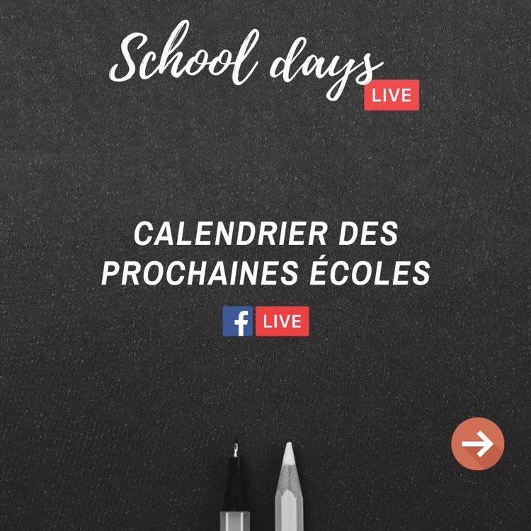 📢 Dernière semaine de notre dispositif #schooldays !  👉🏻 Découvrez les 3 prochaines écoles à pendre la parole en Facebook live avec nous :  - Mardi : 1984 School of design - Mercredi : Sup de Pub - INSEEC U. - Jeudi : ICN Business School  Préparez vos questions 😇 https://t.co/oX5zOL9WTw