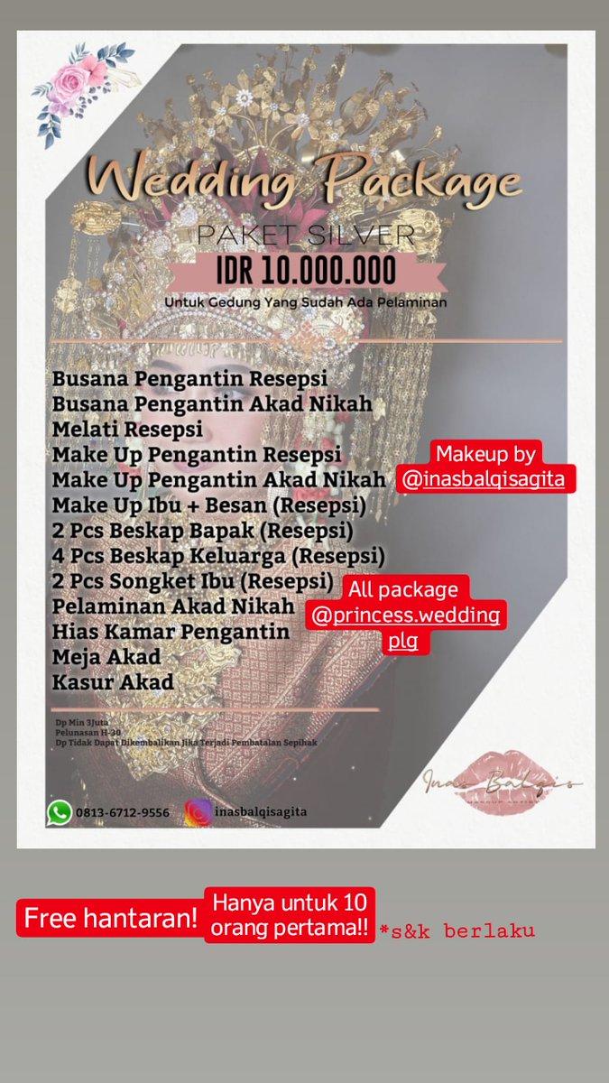 Buat yang mau tanya-tanya bisa diliat ignya yaa @.inasbalqisagita atau @.princess.weddingplg~ #muapalembang #muahits #palembang #wedding https://t.co/F0yfF7KUHa