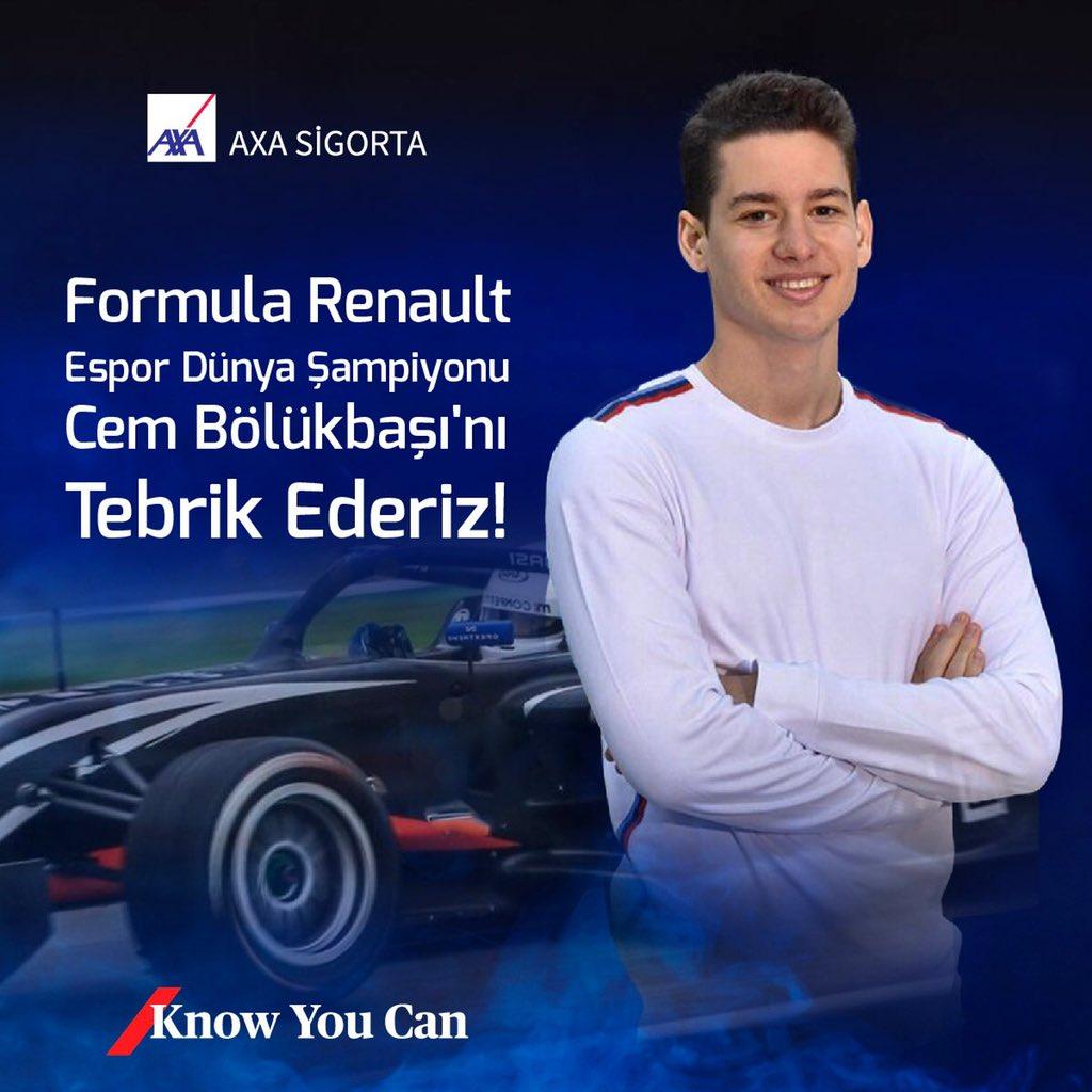 Bu yıl ilk kez düzenlenen Formula Renault Esport Series'de Dünya Şampiyonu olarak hepimizi gururlandıran Cem Bölükbaşı'nı tebrik ederiz! #KnowYouCan https://t.co/Z1ZZuvzO1c