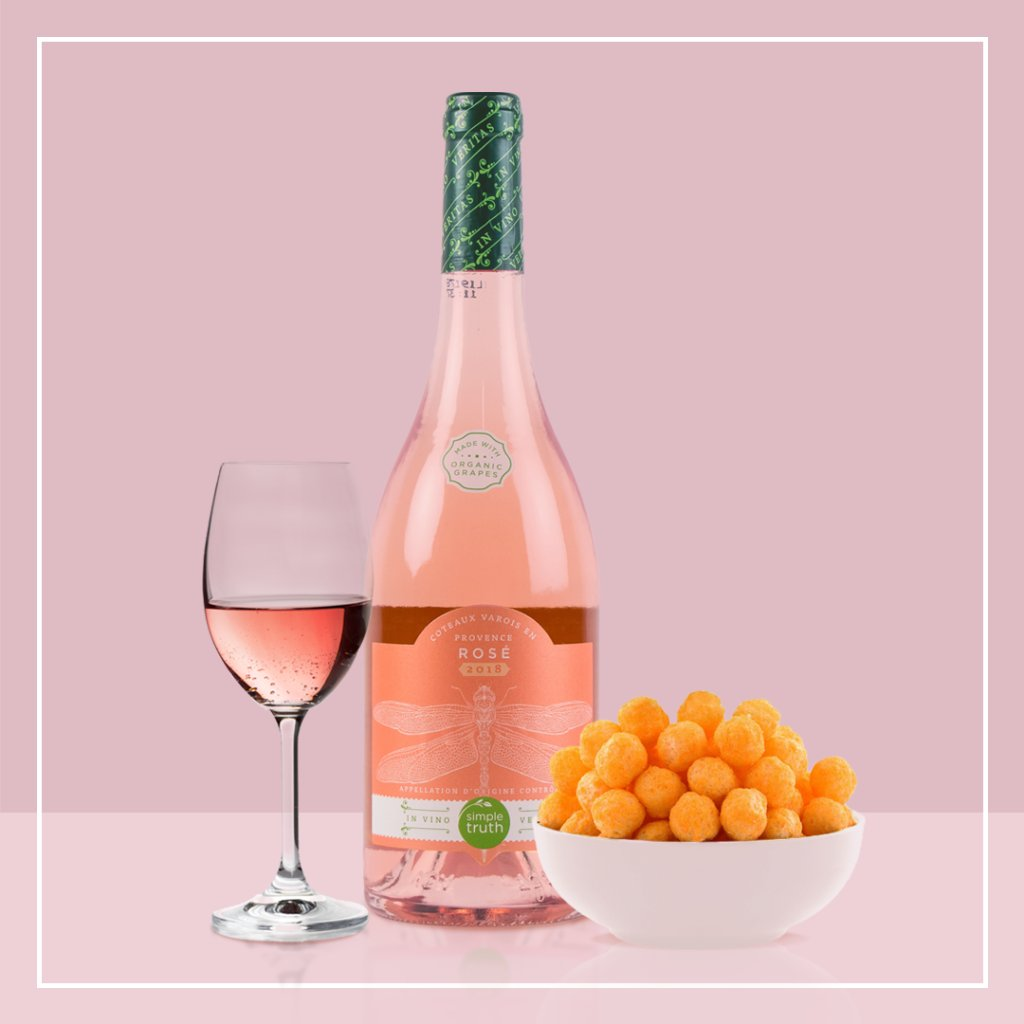 "It's #WineOClock 🍷Our pairing is Simple Truth Rosé with ""puffed cheese"". What's yours? 👀 @SimpleTruth4U https://t.co/QRKYQJMSE5"