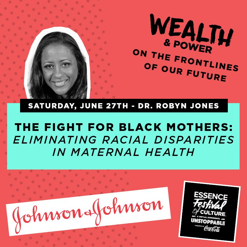 On June 27 at 2:47pm EST, join Dr. Robyn Jones, Senior Medical Director, #JNJ & Emmy-winning journalist @marascampo at the 2020 #EssenceFest to discuss drivers of health inequalities & share ways women can self-advocate while receiving care. Learn more: https://t.co/S5eJ0oT9rp https://t.co/uq3uShjMvt
